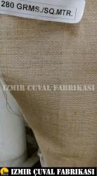 İZMİR ÇUVAL FABRİKASI - 10luk Kanaviçe Jüt Kumaş 1.30 mt en